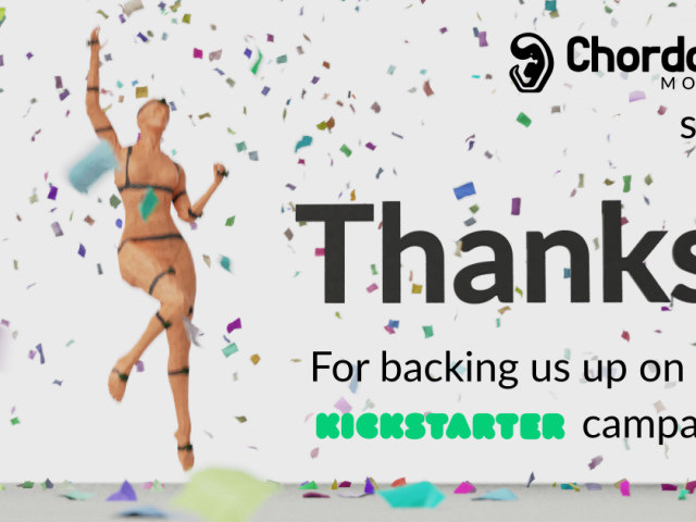 Chordata Motion succesful Kickstarter campaign